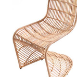 Curve Rattan Dining Chair Natural (Set of 2)