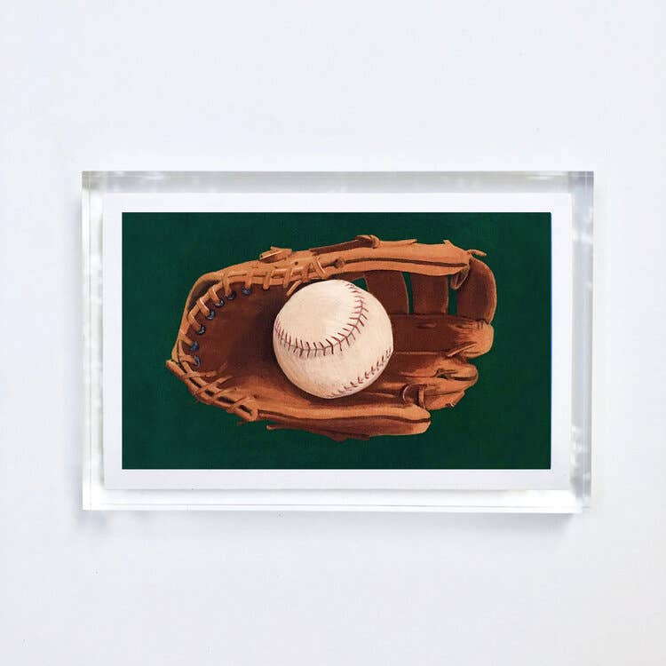 Baseball Print With Acrylic Frame