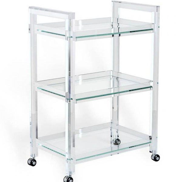 Ava Acrylic Bar Cart