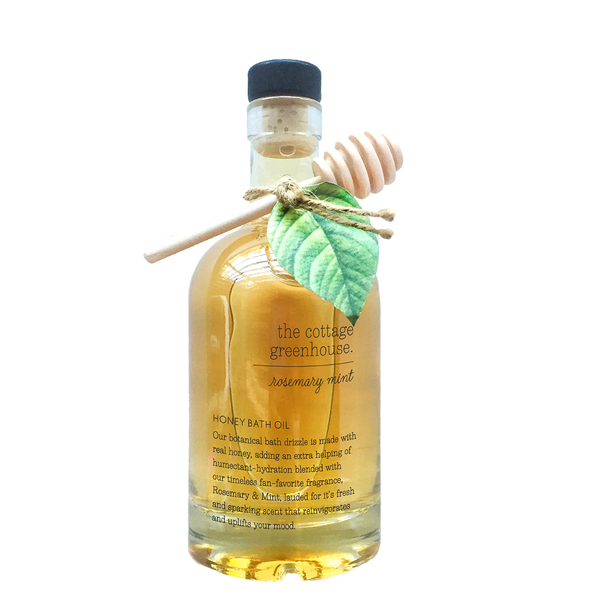 Rosemary Mint Honey Bath Oil by The Cottage Greenhouse