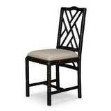 Birch Black Finish Linen Bamboo Dining Chair (Set of 2)