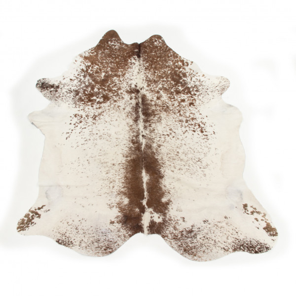 Brazilian Cowhide Salt and Pepper Brown and White