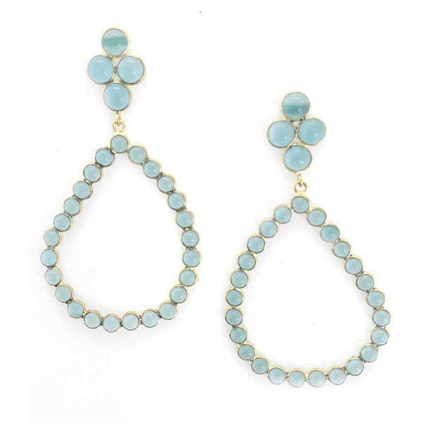 Addison Weeks Otto Hoop Earrings  Aqua