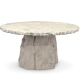 Clamshell Fossilized Dining Table
