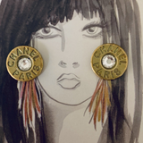 Designer Button Earrings
