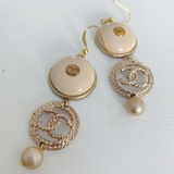 Designer Button Dangle Earrings
