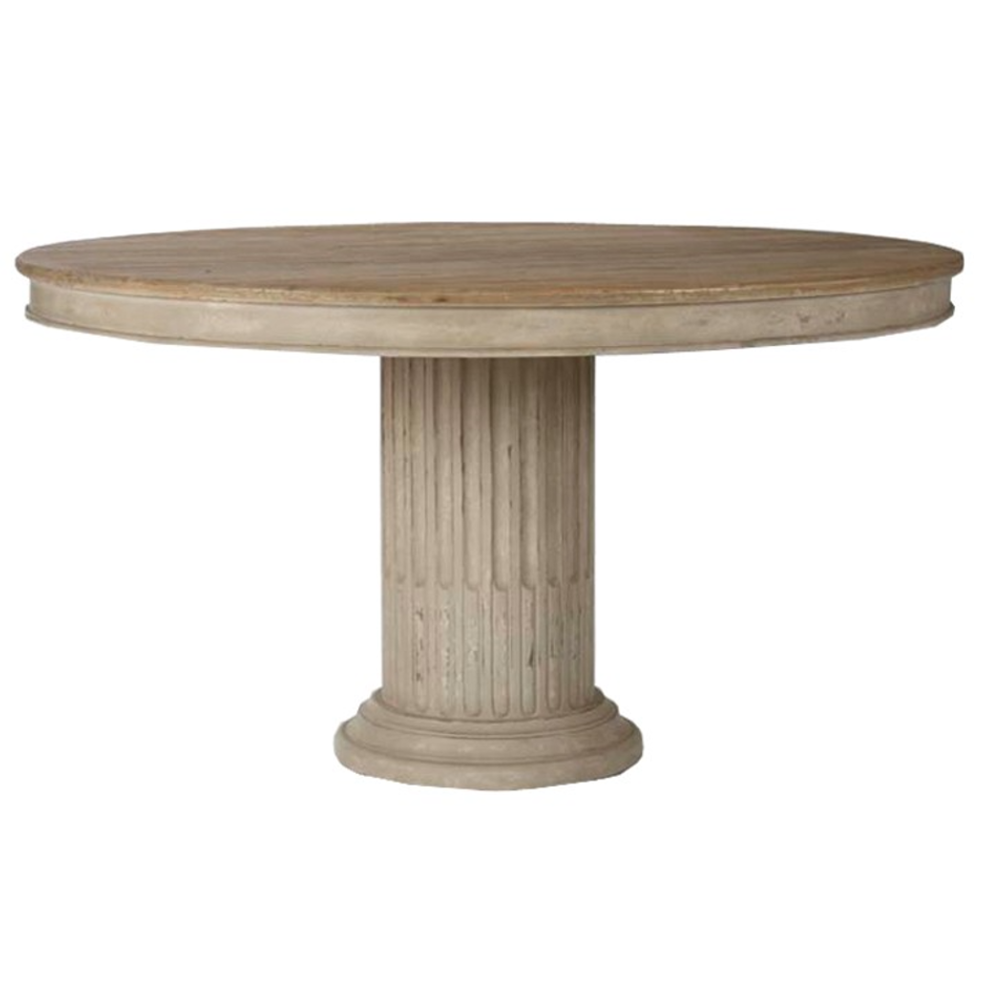 Charlotte Neoclassical Pedestal Table