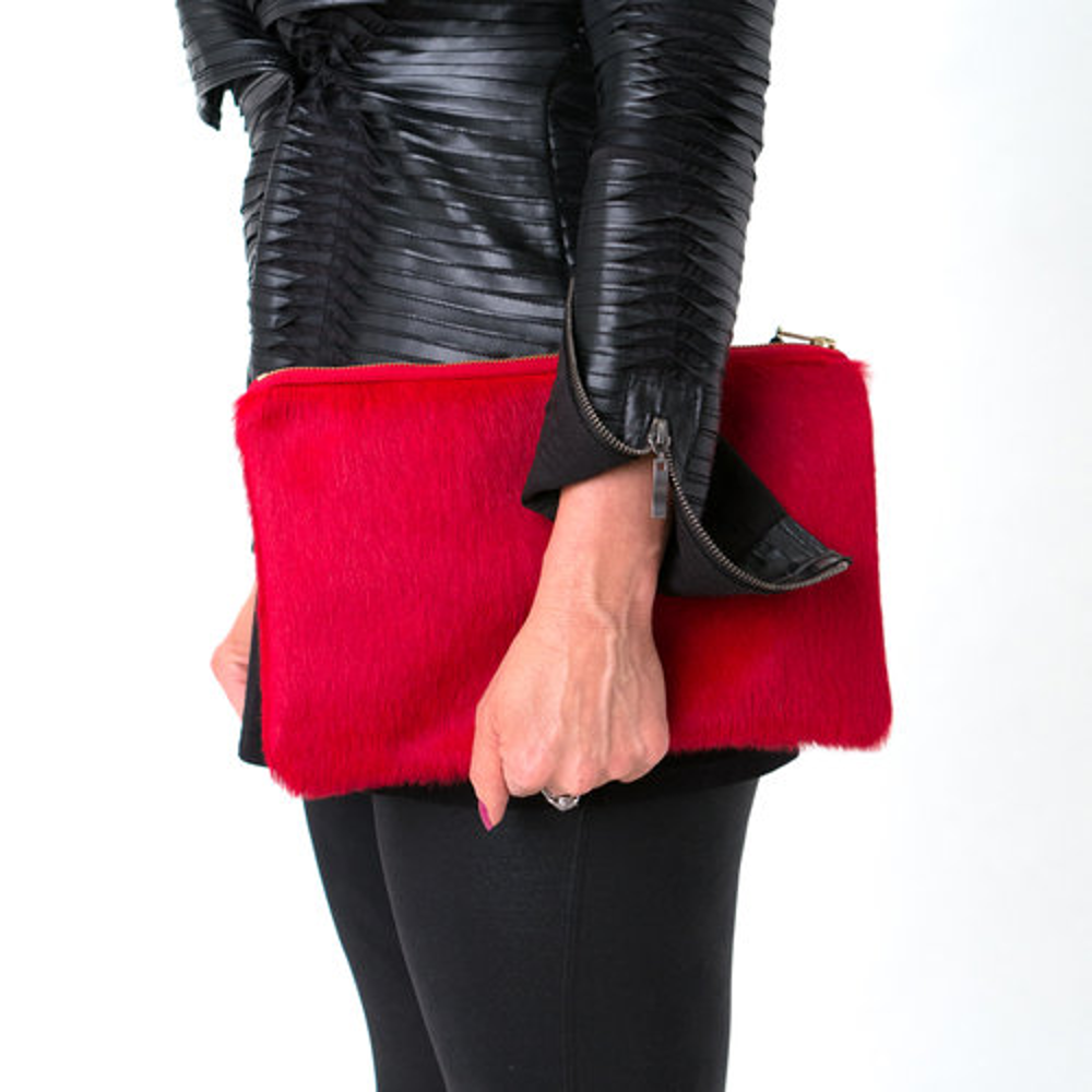 The Courtney Cowhide Leather Clutch