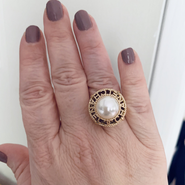 Designer Button Ring