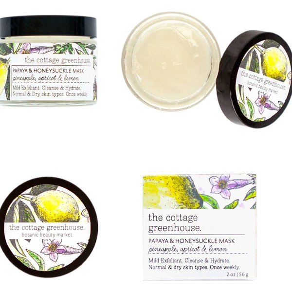 Papaya & Honeysuckle Face Mask by The Greenhouse Cottage