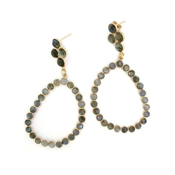 Addison Weeks Otto Hoop Earrings Labradorite