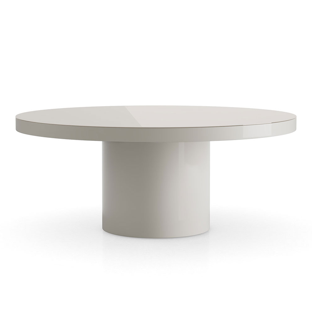 Grey Lacquer Round Dining Table