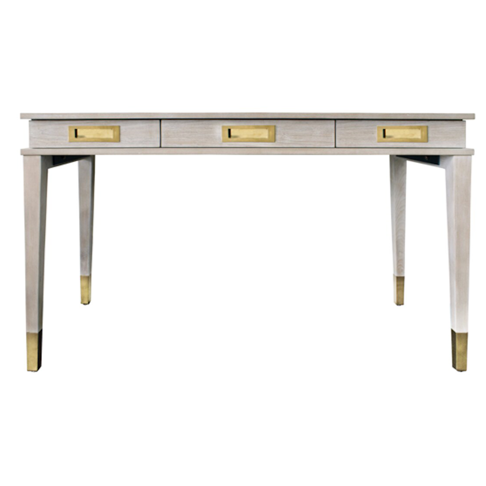 Grey Oak and Gold Desk