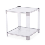 Harrison Acrylic and Silver Side Table