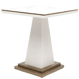 Faux Belgian Linen Side Table White or Navy