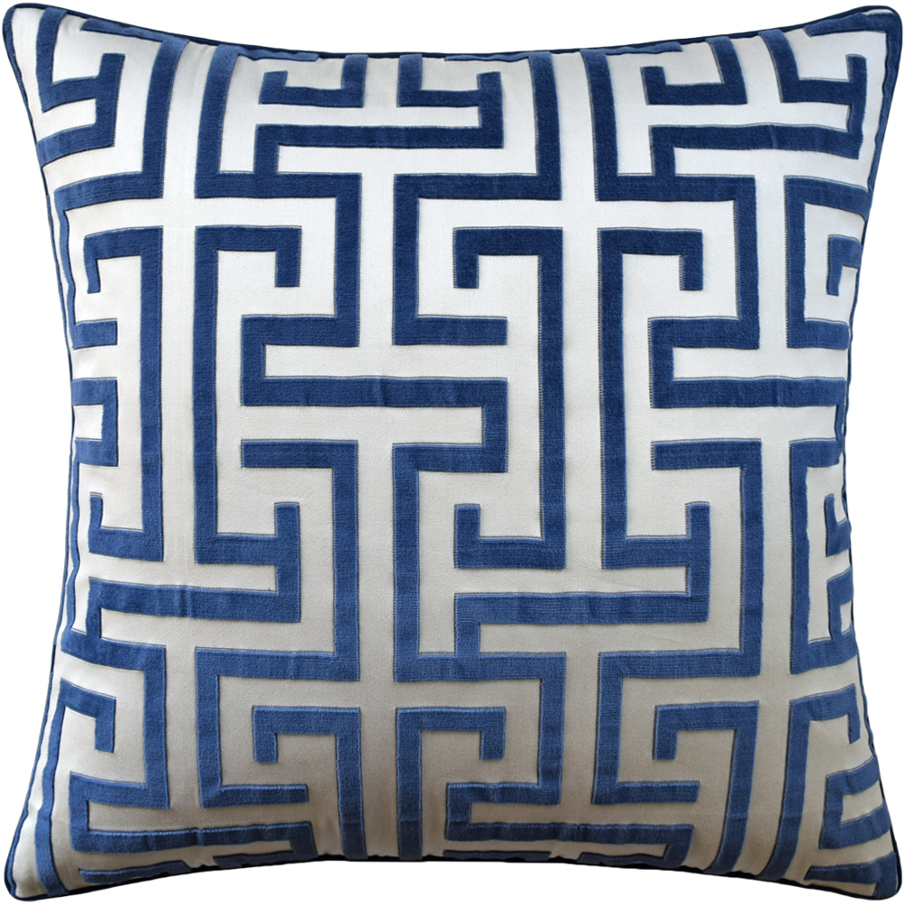 "Ming Trail Navy 22"" X 22"" Pillow"