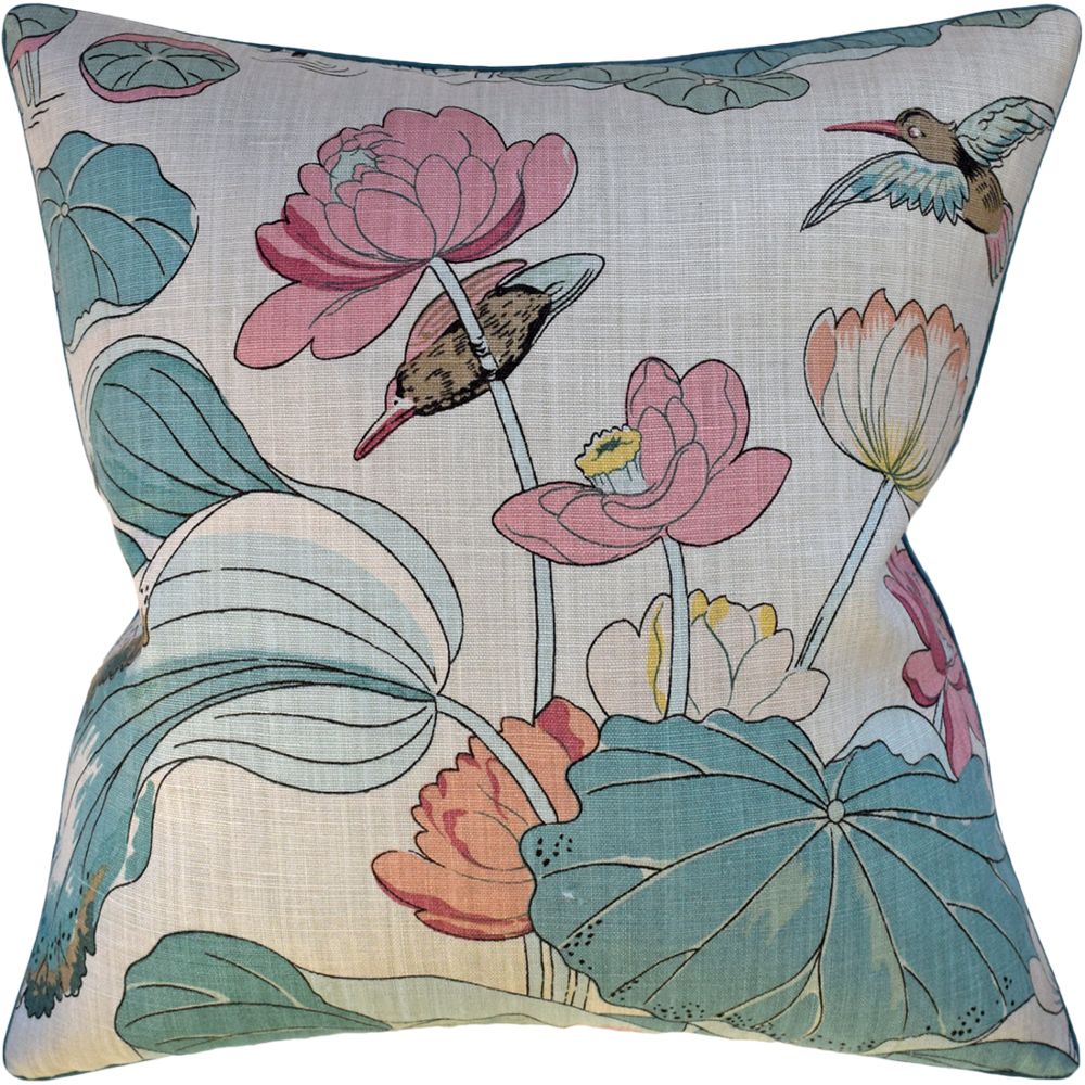 "Nympheus (Pink / Teal) 22"" X 22"" Pillow"