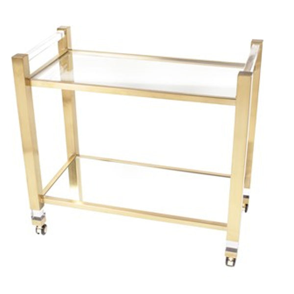 Cannes Gold Bar Cart
