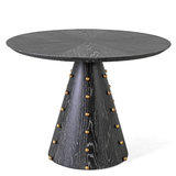 Ebony Cerused Oak Round Center Table by Ashley Childress