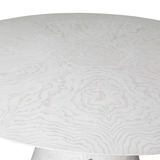 White or Burl Round Dining Table by Ashley Childress