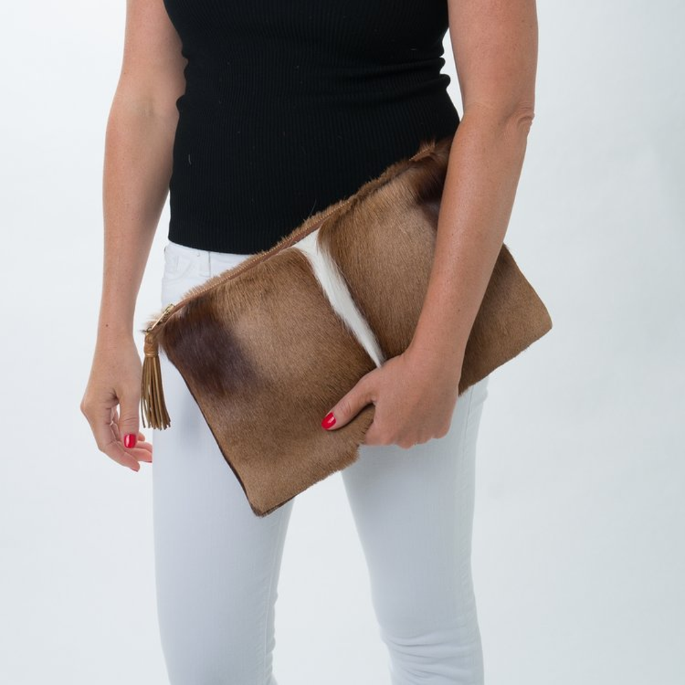 The Springbok Leather Clutch