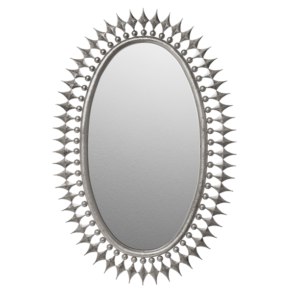 Emporium Home Stud Wellington Mirror, Silver