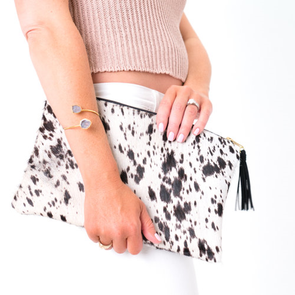 The Whitney Cowhide Leather Clutch
