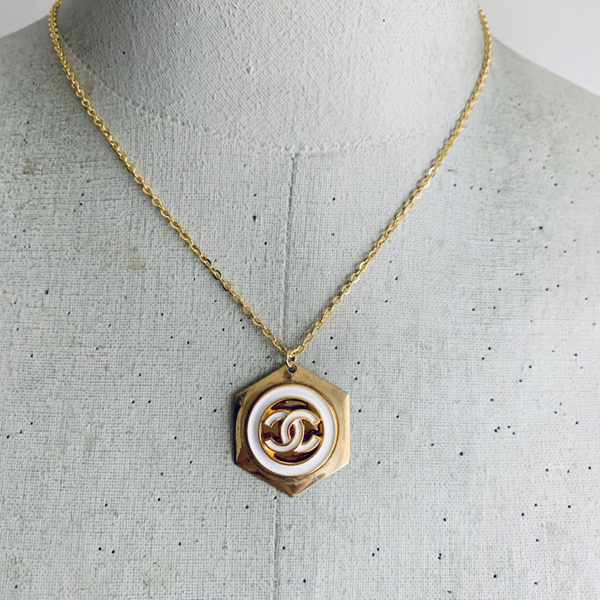Designer Button Necklace