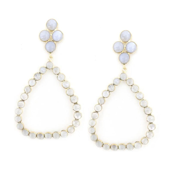 Addison Weeks Otto Hoop Earrings Blue Lace and Moonstone