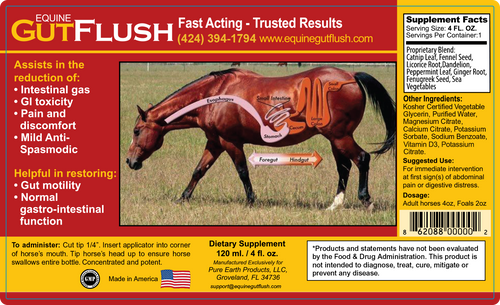 Equine GutFlush - EGF, 4oz Bottle