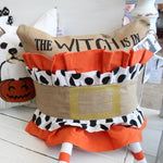 3D 'The Witch Is In' Icon Cotton Pillow Cover