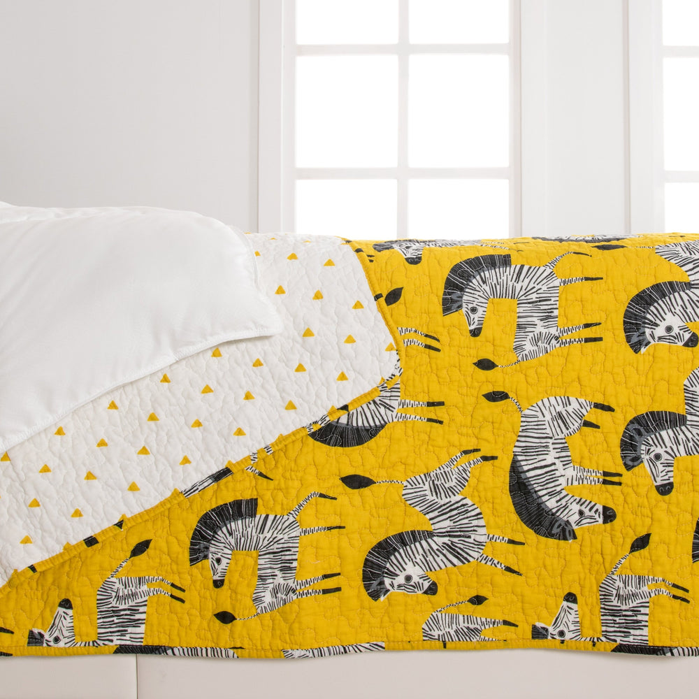 Ziggy Zebra Super Soft Cotton Quilt Set