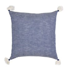 Load image into Gallery viewer, Texas Chambray Embroidered Cotton Pillow