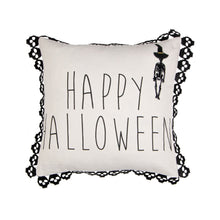 Load image into Gallery viewer, Happy Halloween Fringed Pillow Cover