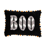 'Boo' Chevron Chenille Pillow Cover