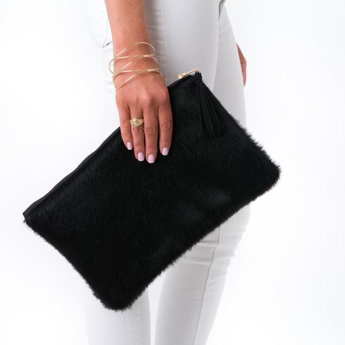 Parker and Hyde: Annie Clutch-Black