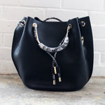 Black Snake Large Purse