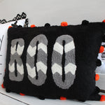 Chevron Boo Pillow Cover