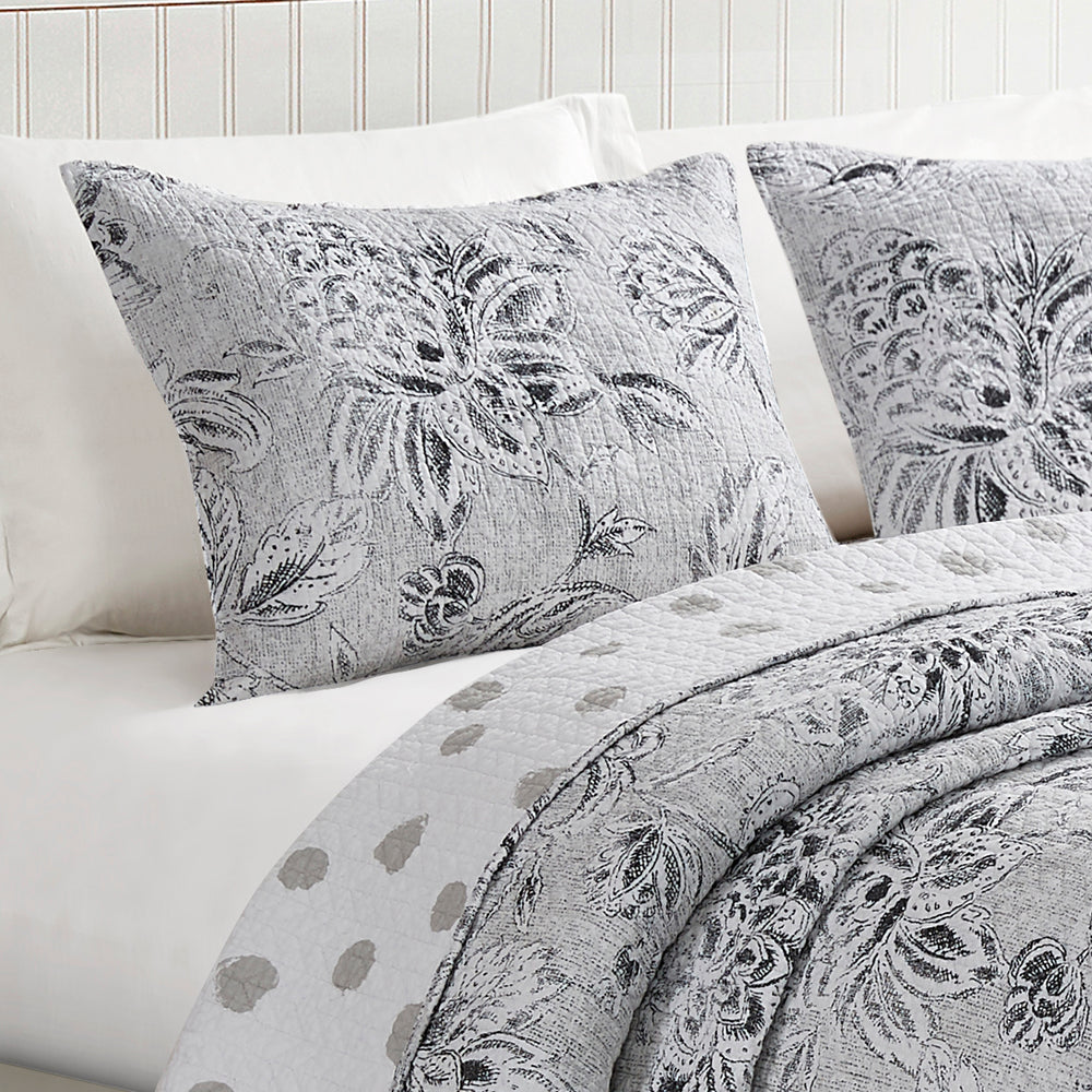 Sham of Carolene Reversible 100% Cotton Quilt Set
