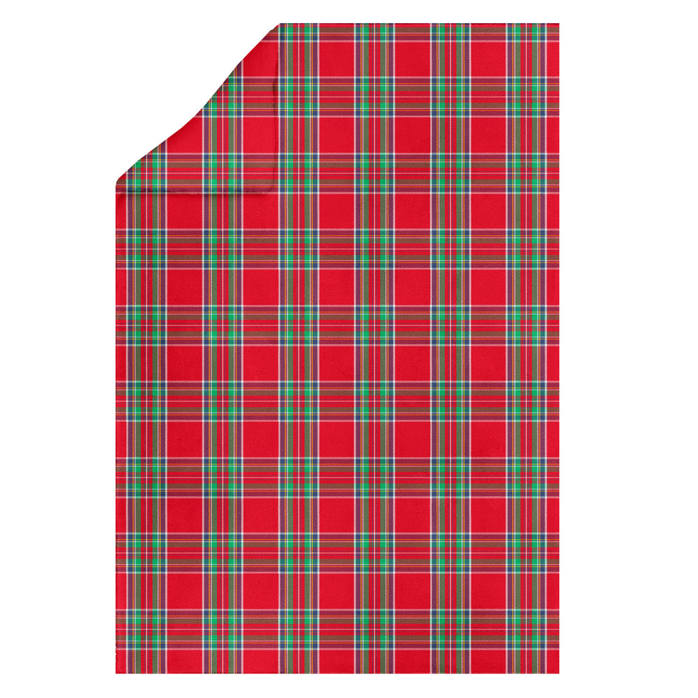 Carrie Plaid Plush Throw