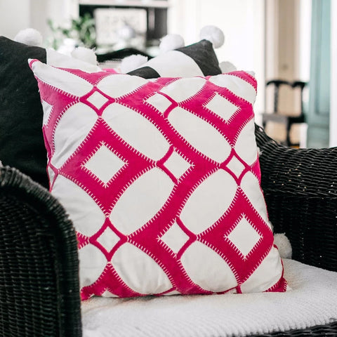 Claire Pillow Cover Fuchsia