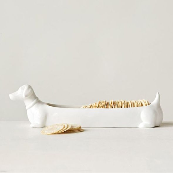 Ceramic Dachshund Cracker Dish