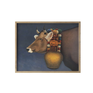 Brightly Decorated Bull Wall Art