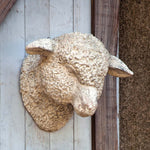 Estate Stone Wall Mount Lamb Head