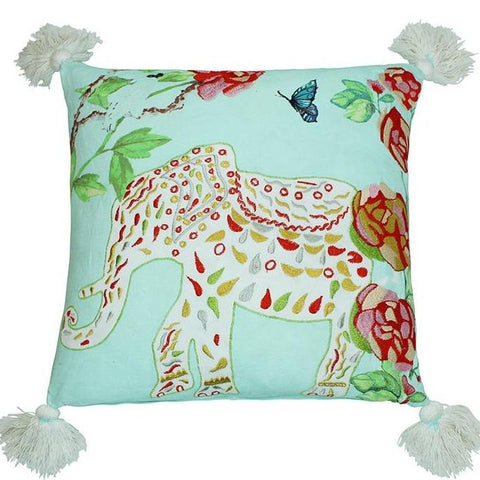 Breezy Elephant Pillow Cover