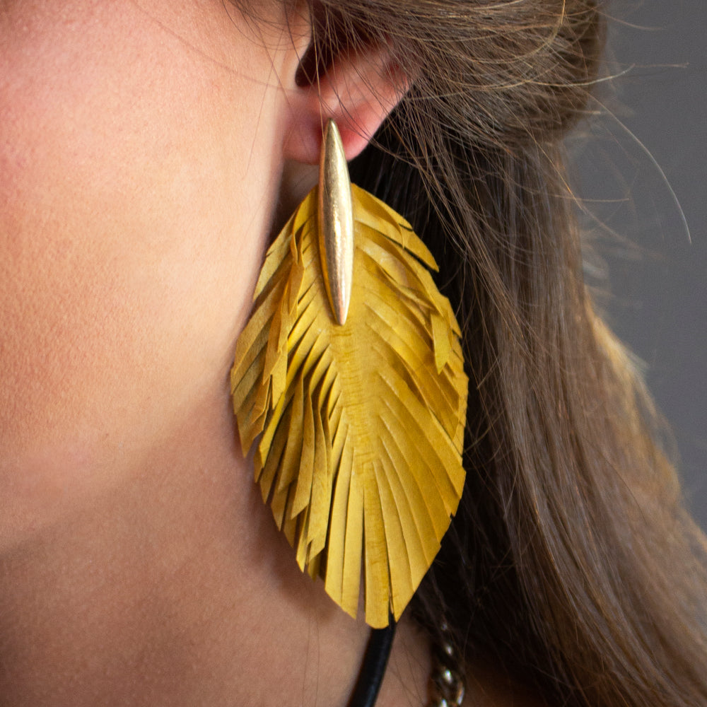 Laney Leather Earrings