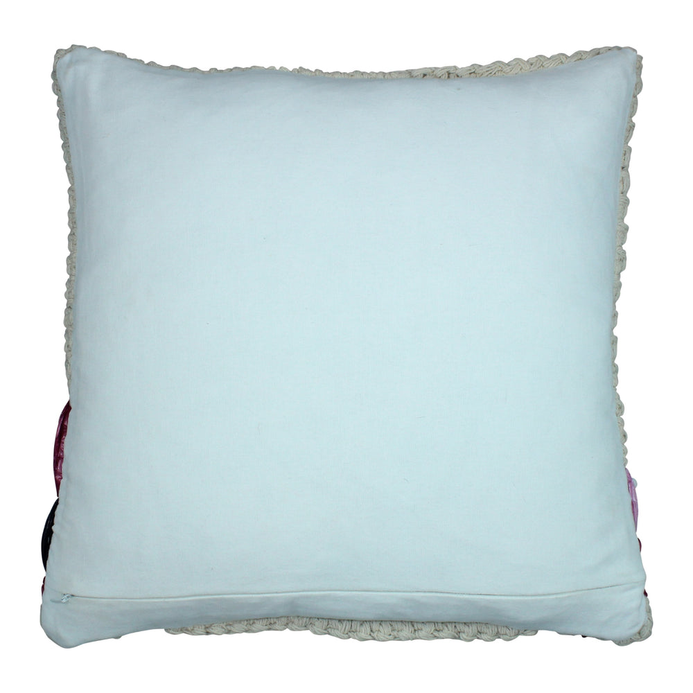 'Hello Summer' Indoor/Outdoor Raffia Pillow Cover