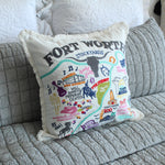Fort Worth City Iconic Spots Pillow Cover