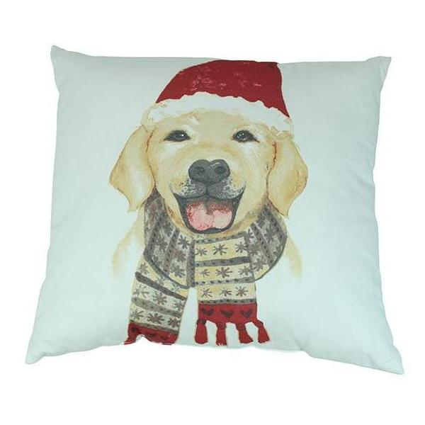 Holiday Golden Retriever Pillow