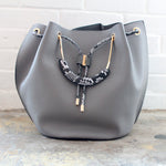 Grey Snake Large Purse